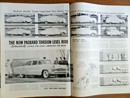 1955 Packard Ad The New Packard Torsion-Level Ride