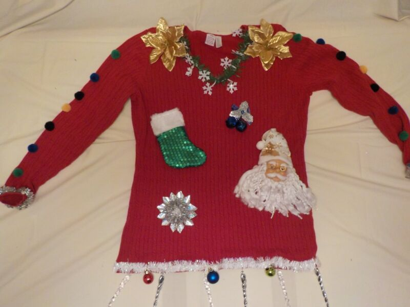 Ugly Christmas sweater - Red -santa