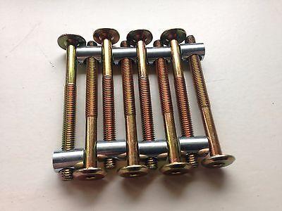 8er Pack Innensechskant schrauben 70 mm + 8 st. Zylindermutter M6x10 (13mm)