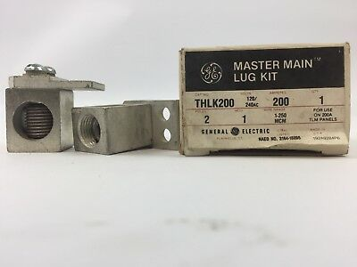 Ge Thlk200 Master Main Lug Kit 120240 Vac 200 Amp For Use On 200a Tlm Panels