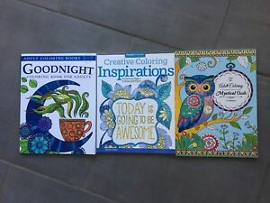 Adult colouring books