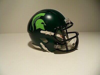 CUSTOM 2019 LIME GREEN ALTERNATE MICHIGAN STATE SPARTANS  MINI covid 19 (Michigan State Spartans Green coronavirus)