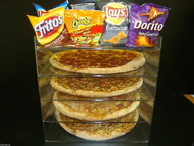 Displays2buy 14 Pizza Showcase Retail Store Acrylic Display Cases