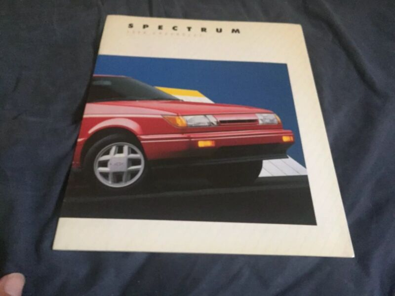 1988 Chevrolet Spectrum Isuzu IMark Color Sales Brochure Catalog Prospekt