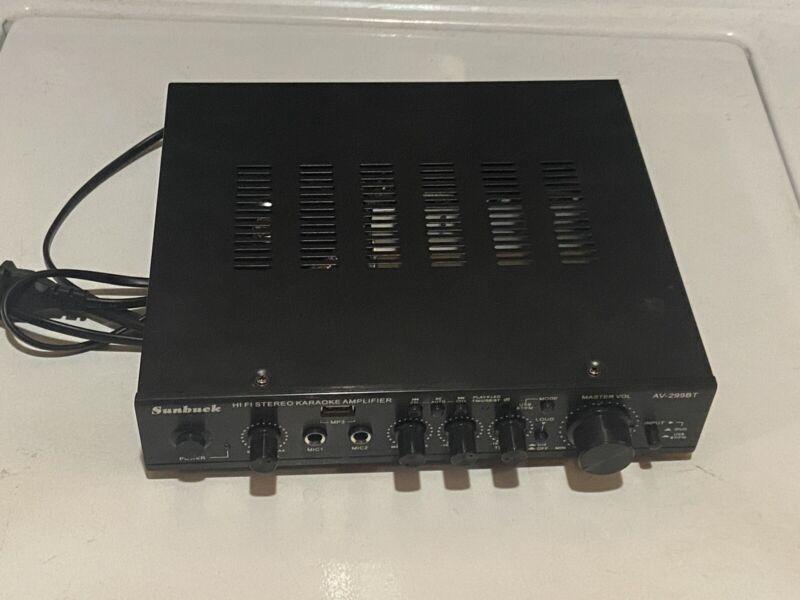 Sunbuck AV-299BT HiFi Stereo Karaoke Amplifier