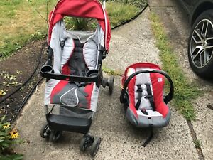 evenflo car seat and base and stroller