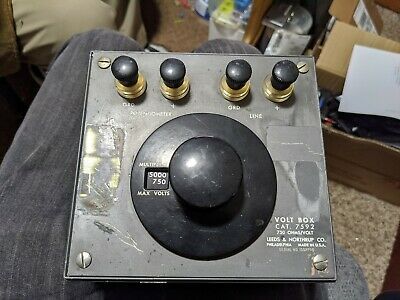 Leeds Northrup Volt Box Cat. 7592 750 Ohmsvolt Vintage Test Equipment