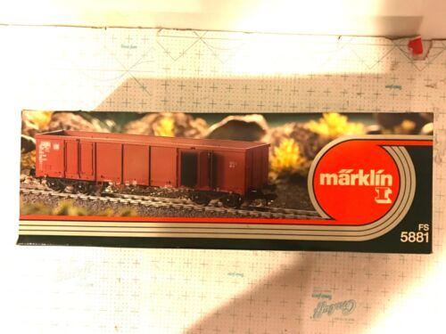 Märklin Marklin 1 Gauge 5881 Offener Güterwagen der FS OB