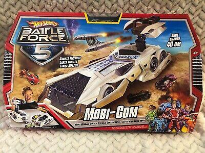 Mattel Hot Wheels Huge Battle Force 5 Mobi-Com Shoots Missiles New Unopened Box
