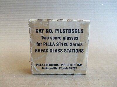New Pilla Pilstdsgls Two Square Glasses Pilla St120 Series Break Glass Station