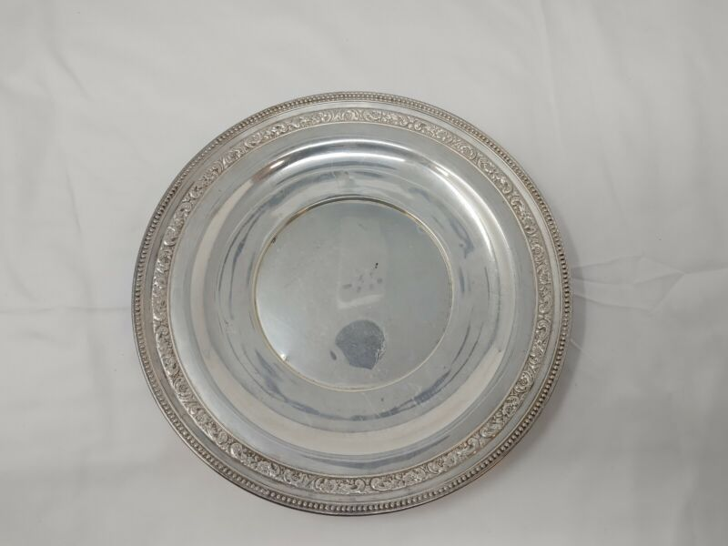 "Wallace Sterling Silver 10.5"" Dinner Plate Platter 268g"