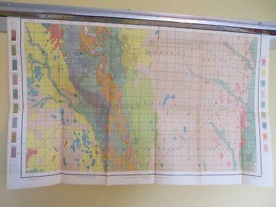 "1902 Antique Map Kansas Wichita Oatville Derby Douglass Haysville 31 X 19"" #8794"