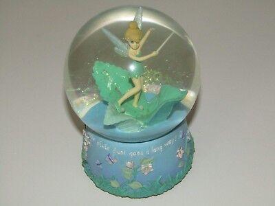 Enesco Disney Tinkerbell Musical Snow Globe A Little Pixie Dust Goes A Long Way