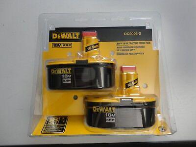 Dewalt Dc9096 2 18V 18 Volt Ni Cad Xrp Battery Packs Model Dc9096 X 2 New Nip