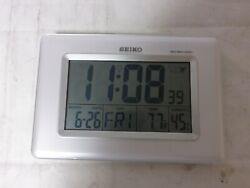 Seiko QHR020WLH Advanced Technology R-Wave Desk Clock - No Box