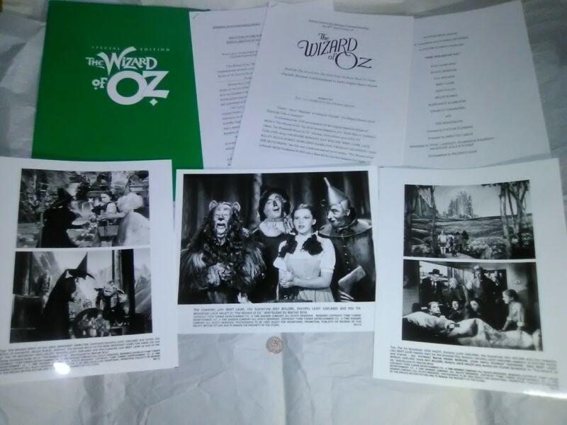 Wizard of Oz Press Kit 60th Anniversary Judy Garland 1998 Turner Land of Oz RARE