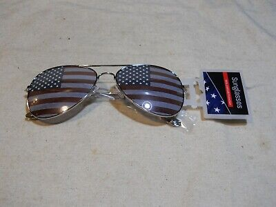 Foster Grant Sunglasses Aviator ~ Stars and Stripes Printed Lens