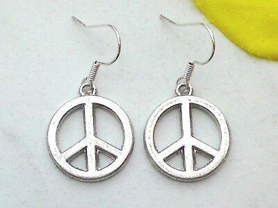 Ohrringe *PEACE Zeichen* Hänger mit Frieden Symbole Schmuck Ohrhänger Ohrschmuck