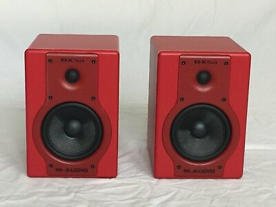 M-Audio Studiophile Bx5a Deluxe Limited Edition Red active studio monitors