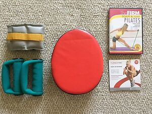 Misc exercise DVDs and equipment
