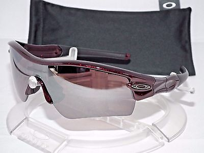 Custom Oakley Polarized Radar Path Straight Stem Metallic Red   Oo Black Iridium