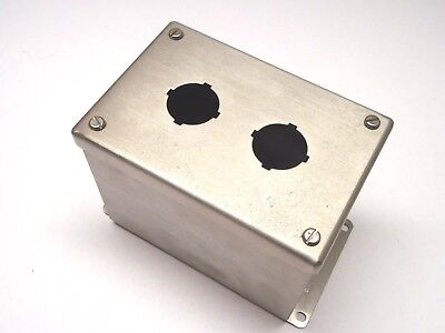 New Hoffman E2pbxss Stainless Steel 2 Hole Pushbutton Enclosure