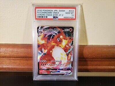 2020 Pokemon Japanese SWSH: VMax Starter Set- F.A. Charizard VMax (#002) PSA 10