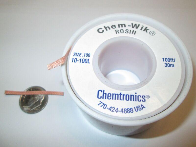 CHEMTRONICS 10-100L CHEM-WIK DESOLDERING BRAID  100