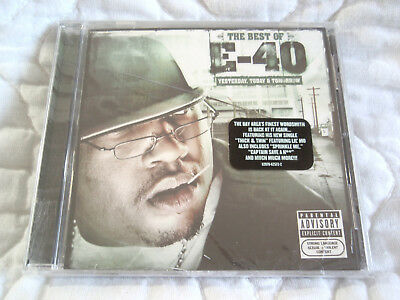 THE BEST OF E-40 YESTERDAY TODAY & AND TOMORROW CD NEW PA EXPLICIT GANGSTER (Best Rap Music Today)