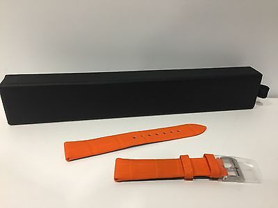 New - dior - orange cuir bracelet 16 mm bracelet cuir orange - pour watches