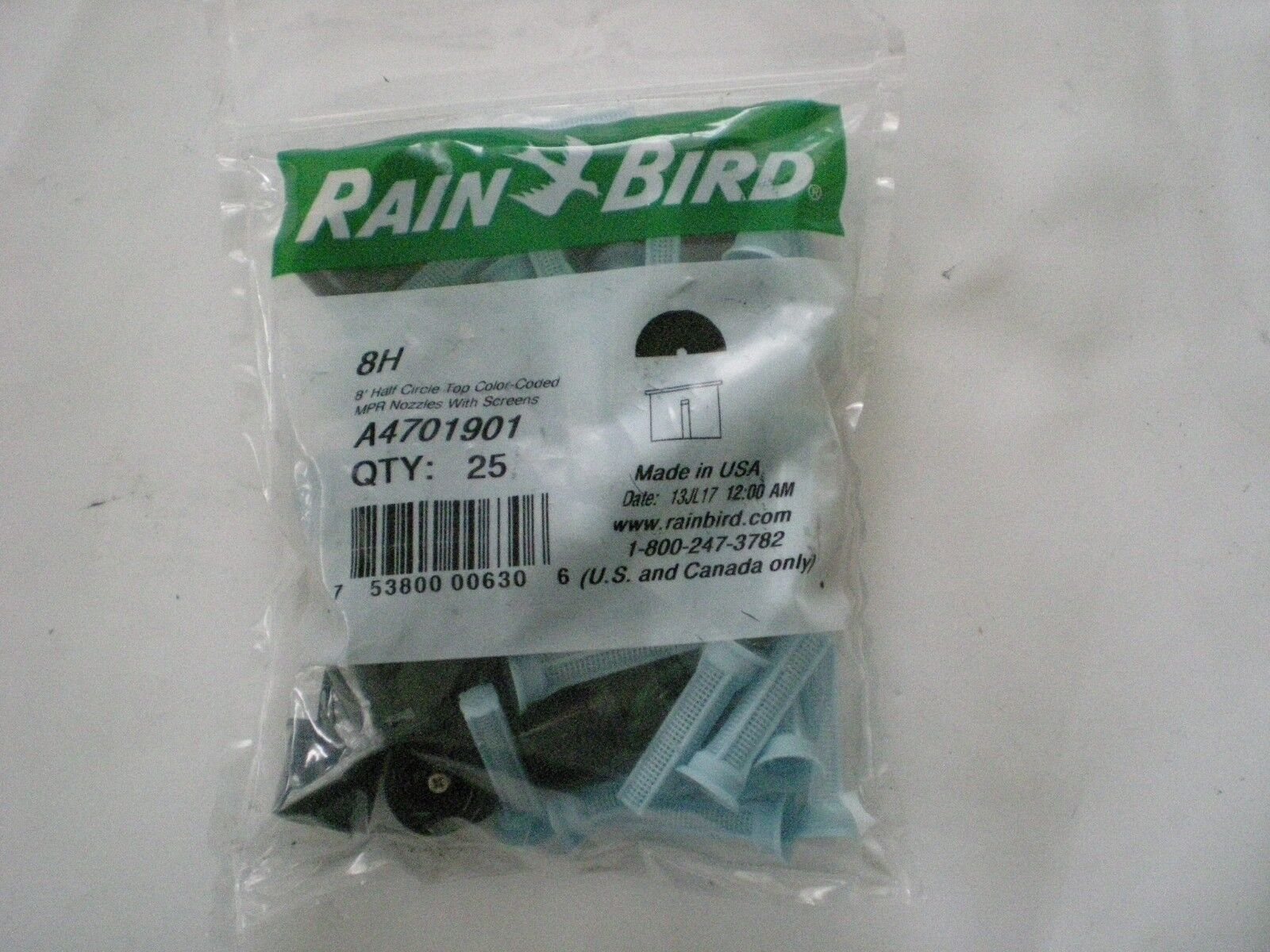 Rainbird 8H 8' Radius Half Circle Spray Nozzle