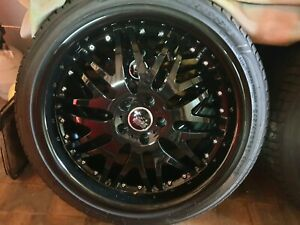 """Black 20 """" rims and tyres for ASX or small SUV"""