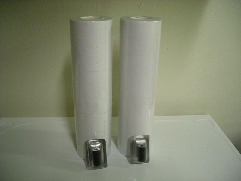 White Labels for Garvey 18-6 single line Price Gun ,22rolls / 2 inkers.
