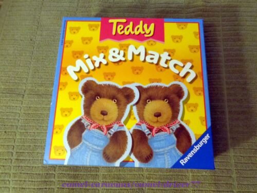 Ravensburger TEDDY Mix & Match CARD Game EXTRA THICK Bear Shaped Cards