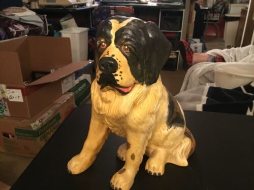 Large Ceramic Dog Figurine Marked 5/76 MVM