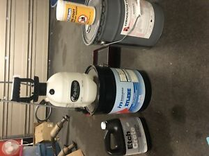 Concrete sealer/grit, xylene, hcl and applicator