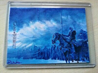 """Game Of Thrones Complete series: Limited Signed Sketch Card """"The night king"""" ."""