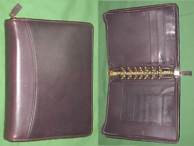 Classic 1.5 Brown Full Grain Leather Franklin Covey Quest Planner Binder 4144