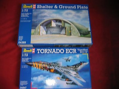 REVELL® 04389 & 04847 1:72 SHELTER&GROUND PLATE&TORNADO ECR TIGERMEET NEU OVP