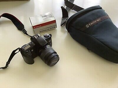 Canon Rebel G EOS 35mm SLR Camera 28-80 zoom, Bag, Flash- Excellent  condition