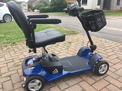 Apex Alumalite Mobility Scooter, blue, lithium battery, lightest travel scooter