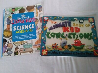 2 Science books- Clever Kids, Ultimate Book of Kid Concoctions