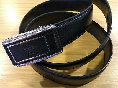 DESIGNER BELT FOR MEN AUTOMATIC VERSACE BELT LUXURY BLACK LEATHER