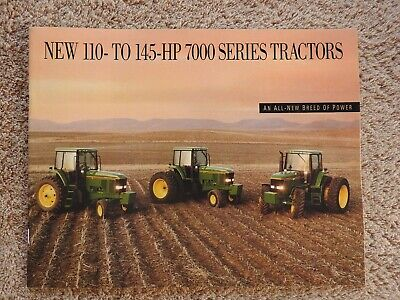 1992 John Deere 7600 7700 7800 Tractor Brochure Catalog Very Nice Shape
