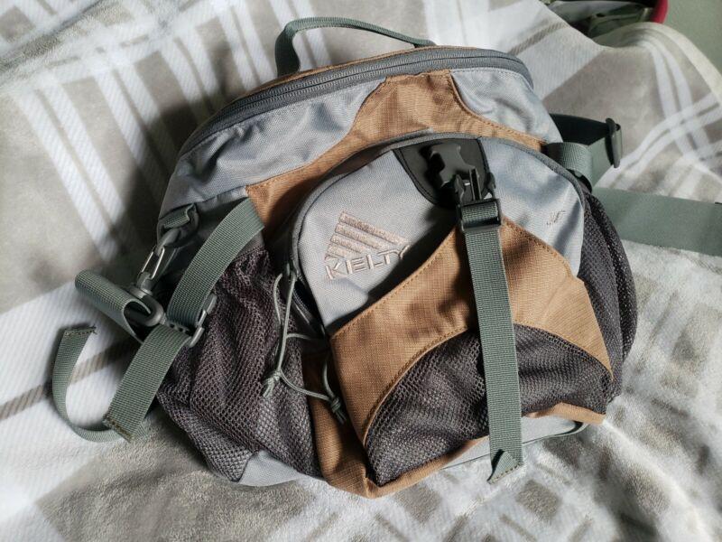Kelty Jaunt Brown And Gray Large Day Pack Lumbar Hiking Trip Bag EUC