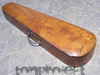 PROJEKT sehr alter GEIGENKOFFER Geige Violine Holzkoffer Geigenkasten Koffer
