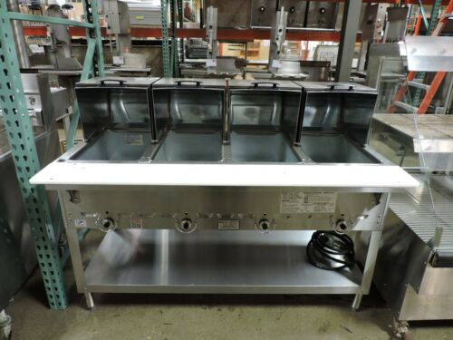 Duke 304 Four Compartment Steam Table W/ Roll Covers & Gas Hose - LP