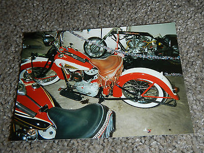 OLD VINTAGE MOTORCYCLE PICTURE PHOTOGRAPH INDIAN BIKE #4