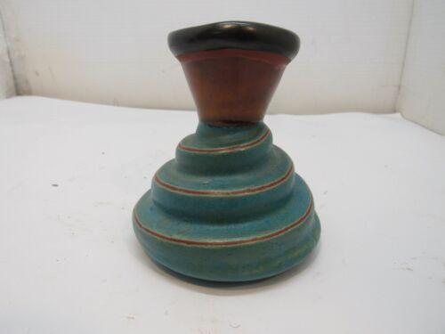 "Butter Toast Rhode Island Memphis Style Era Drip Glaze Swirl 5"" Pottery Bud Vase"