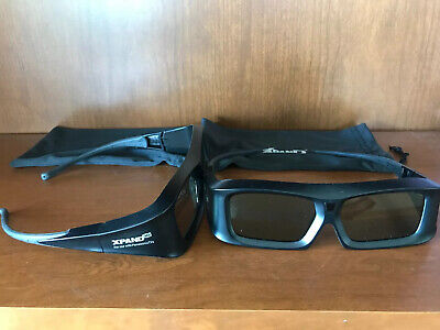 QTY 2 -  XPAND Active IR 3D Glasses X103-P2 for Panasonic TV